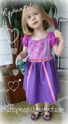 Adorable and (more importantly COMFORTABLE) toddler Rapunzel dress. So much nicer than the tacky, scratchy ones you buy.