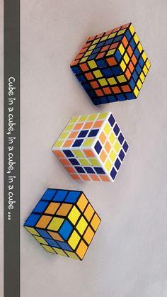 Zauberwürfel/ rubiks cube coole Muster mit 3*3*3, 4*4*4 & 5*5*5 cube in a cube