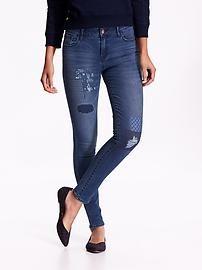 Women's Mid-Rise Rockstar Distressed Jeans
