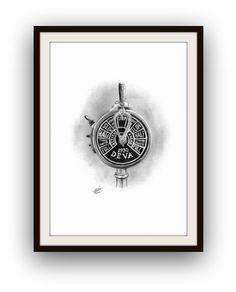 Prace wykonane w Grafika w olowku wymiar 42 x 30 cm autor Miroslaw Kolbe My Marine, Nautical Art, Compass Tattoo, Decor Crafts, Art Work, Arts And Crafts, Husband, Decorations, Artwork