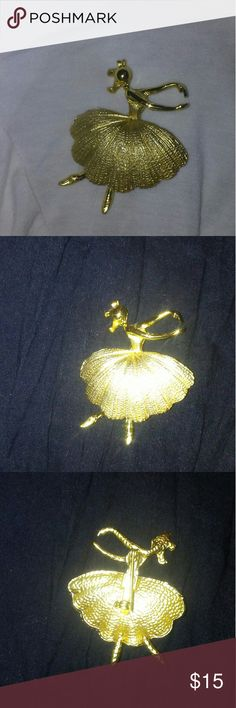 Gold Ballerina Brooch Pin Gold Ballerina Brooch Pin. Sophisticated elegance. Jewelry Brooches