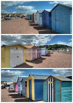 Beach Huts Teignmouth Back Beach - Greetings Cards Teignmouth and Shaldon