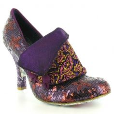 Irregular Choice Flick Flack - Purple stars
