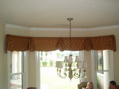 gathered bell valance  by charlotte sews, via Flickr
