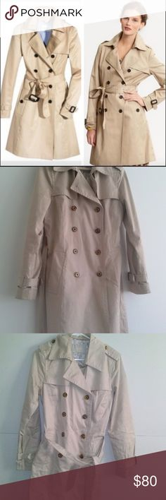 Khakhi Double-breasted Trench Coat Khakhi Double-breasted Trench Coat  This is wardrobe staple.  Double breasted has inside button as well Belt included Shell 100% cotton Fully Lined  Note that buyer will have to get it washed once. Banana Republic Jackets & Coats Trench Coats