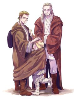 Qui-Gon, Obi-Wan and little Anakin :)
