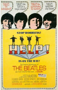 1965 movie poster HELP Beatles