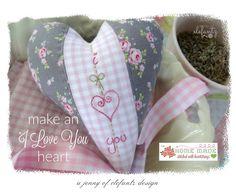 FREE Pattern Download - Jenny of Elefantz ~ Tutorial - make an I LOVE YOU heart...