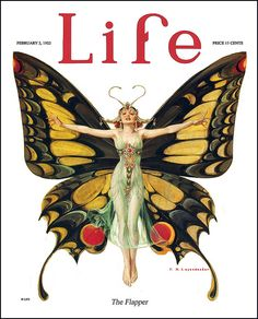 The February 1923 cover of Life magazine .
