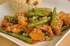 Chicken and Green Bean Stir Fry  @yourhomebasedmom.com