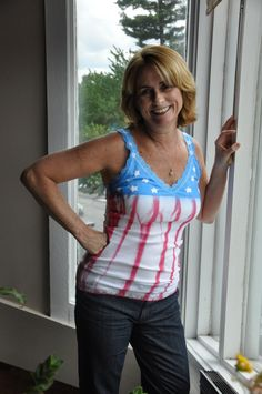 4th of July Tank Top made with Simply Spray.