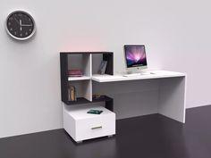 escritorio - organizador, moderno con estante en melamina