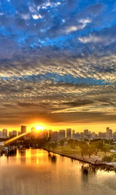 Dawn over Miami, Florida; photo by William Wetmore