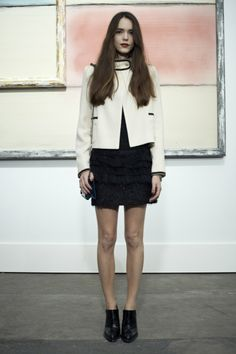 #StacyMartin at #Chanel Show SS 2013, #Parisfashionweek, October 2, 2012, Paris, France