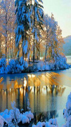 sunrise on a beautiful winter morning