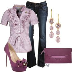Purple outfit option 25. #purple #outfits