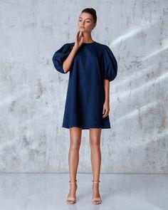 Платье «Есения» мини синее, Цена— 23990 рублей