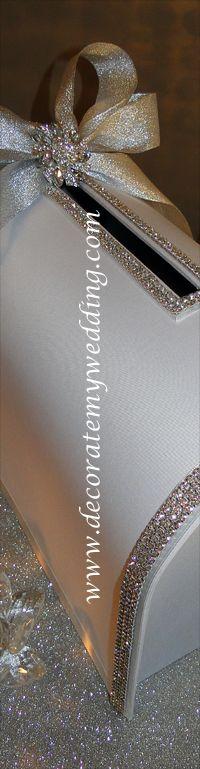decorate my wedding crystal wedding card box guest book