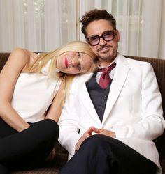 Gwyneth Paltrow y Robert Downey Jr.-330x350