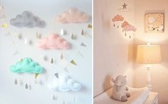 | Adornos colgantes para decorar habitaciones infantiles