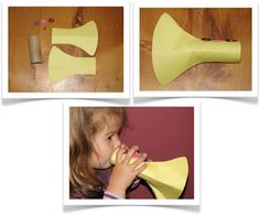 Preschool Crafts for Kids*: Easy Trumpet Music Craft - DIY musical instrument