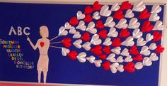 School Welcome Bulletin Boards, Teachers' Day, Preschool Classroom, After School, Diy And Crafts, Projects To Try, Birthdays, Valentines, Education