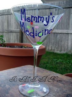Custom Martini Glass by ItsAllInANameGifts on Etsy, $12.00