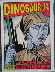 Frank Kozik KZ9443 Dinosaur Jr Houston '94 Signed Numbered   eBay