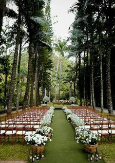 Garden Wedding Ideas Beautiful Decorations for a Fun. Talking about outdoor weddings, a garden is without question the best option, it allows for endless and limitless ideas for your ceremony and reception. Wedding Bells, Wedding Bride, Wedding Events, Wedding Ceremony, Outdoor Ceremony, Reception, Forest Wedding, Garden Wedding, Perfect Wedding