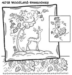 Woodland Embroidery - Iron On Transfers