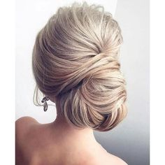 Chignon hairstyles for long hair ❤ liked on Polyvore featuring beauty products, haircare, hair styling tools, hair and hairstyles