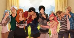 Aphmau and her friends at the convention! Drawn by Proxycomics on Deviantart <3