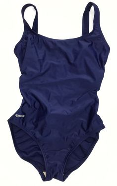 Speedo Women's Sz 8 Navy Blue One Piece Swimsuit | eBay