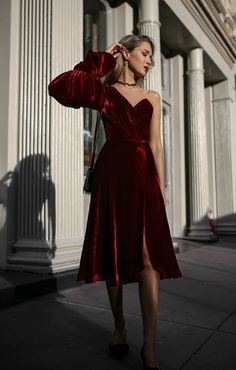 6a3ca63e14 Because what s better than draping your entire body in luxurious red  velvet ! 💃🏼