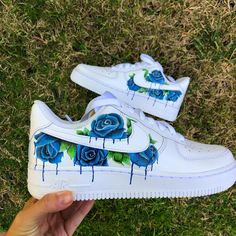 Browse and buy custom sneakers from Nike, Adidas, Vans, and more created by independent artists. Jordan Shoes Girls, Girls Shoes, Ladies Shoes, Zapatillas Nike Air Force, Basket Style, Custom Painted Shoes, Nike Custom Shoes, Customised Shoes, White Nike Shoes