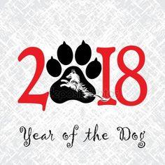 Скачать - Щенок животных Татуировки китайского нового года собака гранж векторный файл организован в слоях для удобного редактирования — стоковая иллюстрация #145967837