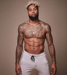 Naked tattooed ebony men