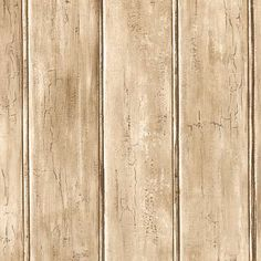 Rustic Weathered Bead Board Wallpaper