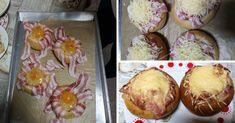 Töltött zsemle, ez a finomság egyszerűen mindenkit elbűvöl! - Ketkes.com Muffin, Bacon, Breakfast, Recipes, Food, Morning Coffee, Muffins, Meal, Food Recipes