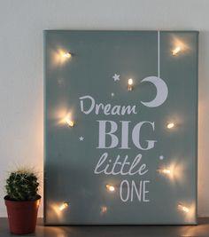 Leuke canvasschilderij met lampjes voor op de kinderkamer!
