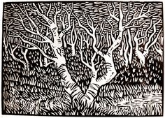 'Icelandic Trees' done in 2007 by a man known only by the intials JPM.