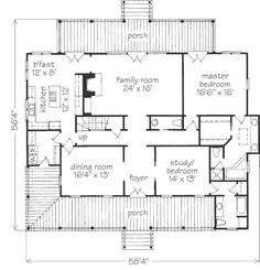 Upper floor house blueprint blueprints pinterest master check out the cane river cottage plan from southern living malvernweather Gallery