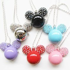 Fashion Mickey Mouse Pendant Quartz Necklace Pocket Watch 10PCS/LOT... ❤ liked on Polyvore