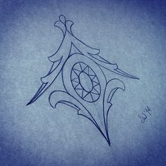 Small female sternum tattoo design for those who like them but don't want anything too big!