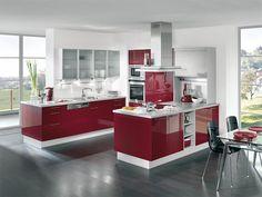 Kitchen/ cuisine red-bordeau