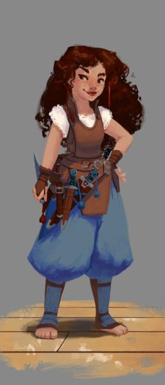 krneil: Revena, Halfing RogueCharacter for an up coming DnD Pathfinder game (and by upcoming, I mean in a few months). She is going to be so much fun~