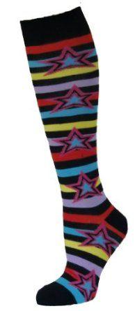 1 Pr BETSEY JOHNSON Knee High Socks Ladies 9-11 I Can Be Bad//Good