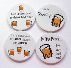 Bierviltjes Drink Coasters Coasters tafelgerei door KellysMagnets