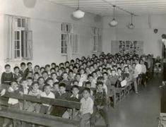 Residential schools were horrible for Aboriginal children and their parents. Families were separated in an effort to try to erase First Nations culture.  Photo: Mission to Partner Collection. (1960).  Assembly hall [Photograph]. Retrieved from http://indigenousfoundations.arts.ubc.ca/the_residential_school_system/