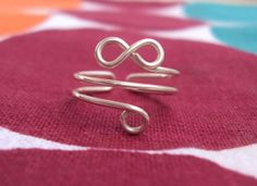 Infinity Toe Ring Sterling silver Toe Ring Adjustable by eTrendzy,